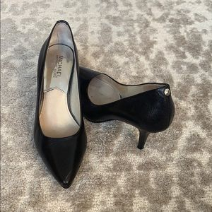 Michael Kors black leather 3-inch heels!